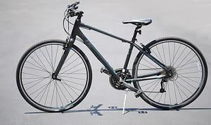 a black bike